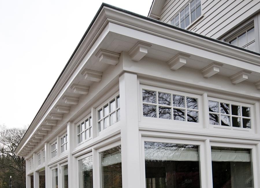 Doors Uitbouw Keuken : Uitbouw keuken met karakteristiek overstek wispels bouwservice